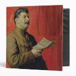 Portrait of Josif Stalin, 1933 3 Ring Binder