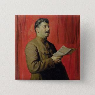 Portrait of Josif Stalin, 1933 Pinback Button