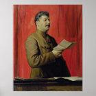 Portrait of Josif Stalin, 1933 Poster