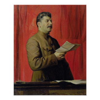 Portrait of Josif Stalin, 1933 Poster