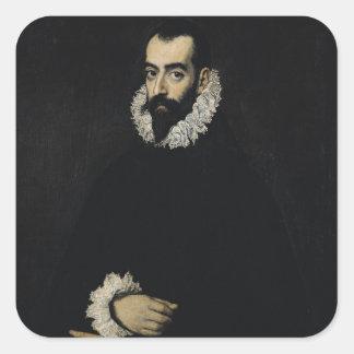 Portrait of Juan Alfonso de Pimentel y Herrera Square Sticker
