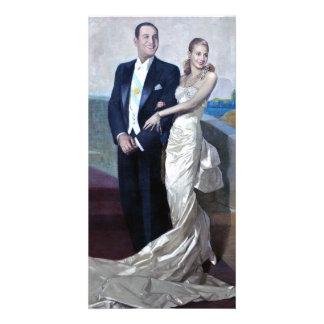 Portrait of Juan Domingo Perón and Eva Duarte Customized Photo Card