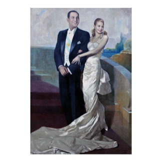 Portrait of Juan Domingo Perón and Eva Duarte Poster