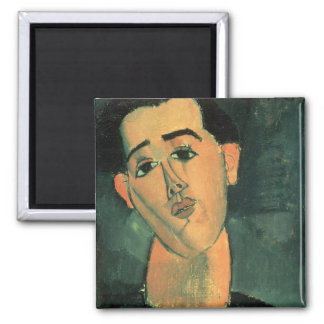 Portrait of Juan Gris (1887-1927) 1915 (oil on can 2 Inch Square Magnet