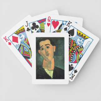 Portrait of Juan Gris (1887-1927) 1915 (oil on can Bicycle Playing Cards