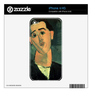 Portrait of Juan Gris (1887-1927) 1915 (oil on can Decal For The iPhone 4S