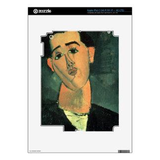 Portrait of Juan Gris (1887-1927) 1915 (oil on can iPad 3 Decals