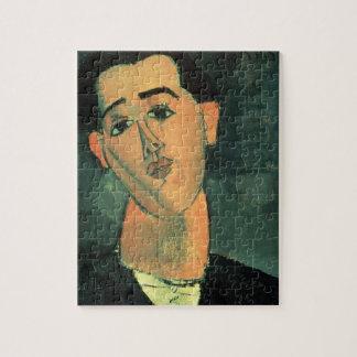 Portrait of Juan Gris (1887-1927) 1915 (oil on can Jigsaw Puzzle