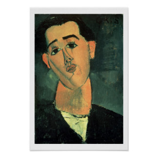 Portrait of Juan Gris (1887-1927) 1915 (oil on can Poster