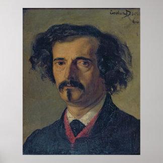 Portrait of Jules Barbey d'Aurevilly  1860 Print