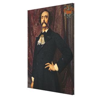 Portrait of Jules Barbey d'Aurevilly  1881 Canvas Print