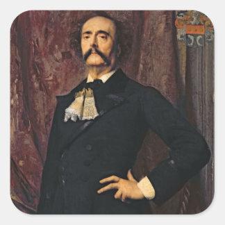 Portrait of Jules Barbey d'Aurevilly  1881 Square Sticker