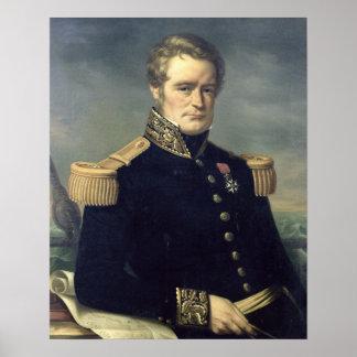 Portrait of Jules Dumont d Urville 1845 Posters