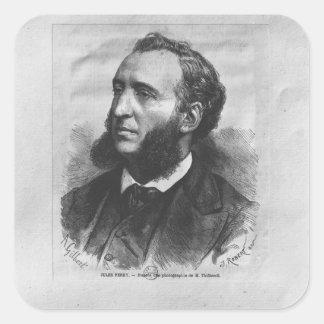 Portrait of Jules Ferry Square Sticker