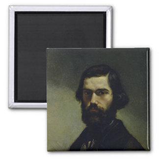 Portrait of Jules Valles  c.1861 2 Inch Square Magnet
