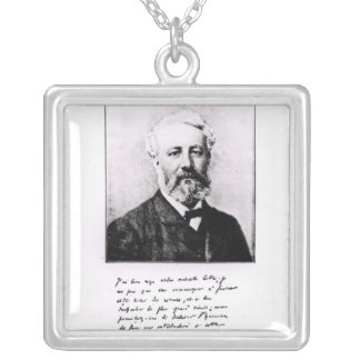 Portrait of Jules Verne Silver Plated Necklace