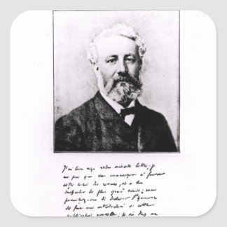 Portrait of Jules Verne Square Sticker