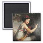 Portrait of Julie Le Brun, c.1797 Fridge Magnets