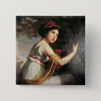 Portrait of Julie Le Brun, c.1797 Pinback Button