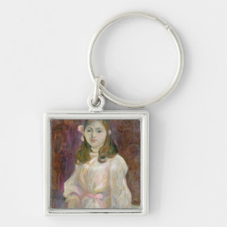 Portrait of Julie Manet  Holding a Book, 1889 Keychain