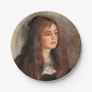 Portrait of Julie Manet Paper Plate