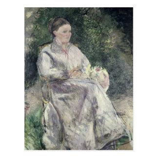 Portrait of Julie Velay, Wife of the Artist Postcard