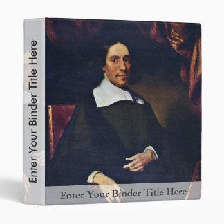 Portrait Of Justus Criex By Maes Nicolaes Vinyl Binders