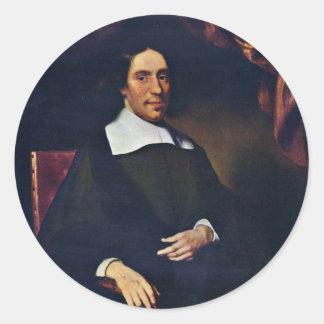 Portrait Of Justus Criex By Maes Nicolaes Sticker