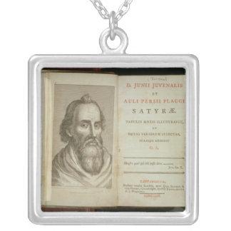 Portrait of Juvenal Square Pendant Necklace