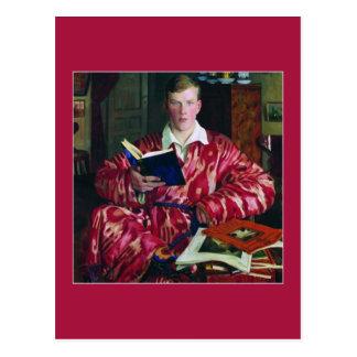 Portrait of K. B. Kustodiev by Boris Kustodiev Postcard