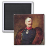Portrait of Kaiser Wilhelm II 2 Inch Square Magnet