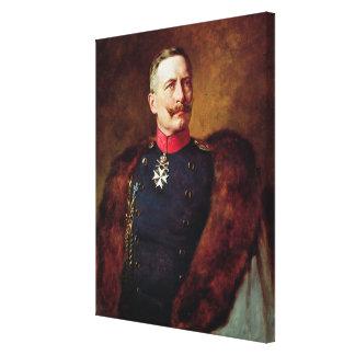 Portrait of Kaiser Wilhelm II Canvas Print