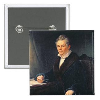 Portrait of Karl Friedrich Schinkel, c.1880 Button