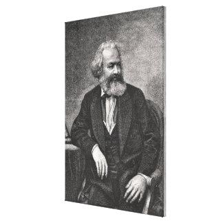 Portrait of Karl Marx  1857 Canvas Print