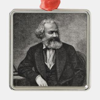 Portrait of Karl Marx  1857 Metal Ornament
