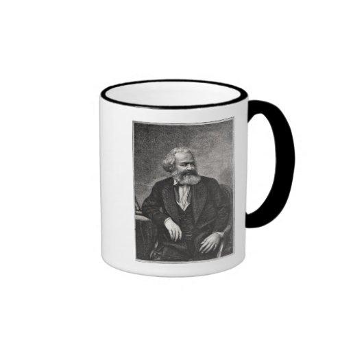 Portrait of Karl Marx  1857 Coffee Mugs