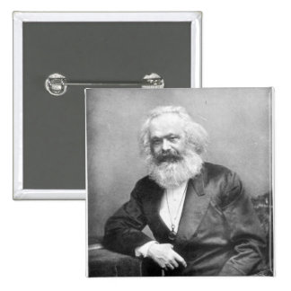Portrait of Karl Marx 2 Inch Square Button