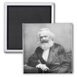 Portrait of Karl Marx 2 Inch Square Magnet