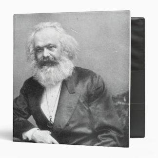 Portrait of Karl Marx Vinyl Binder