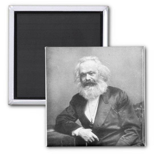 Portrait of Karl Marx Magnet