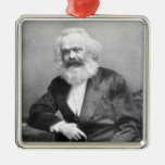 Portrait of Karl Marx Metal Ornament