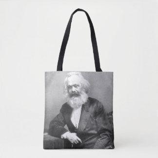 Portrait of Karl Marx Tote Bag