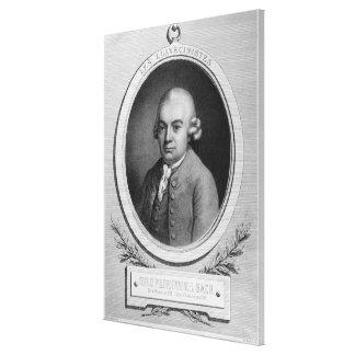 Portrait of Karl Philipp Emmanuel Bach Canvas Print