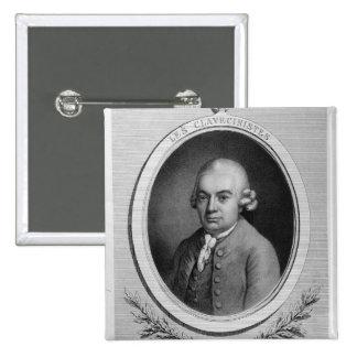Portrait of Karl Philipp Emmanuel Bach Pinback Button