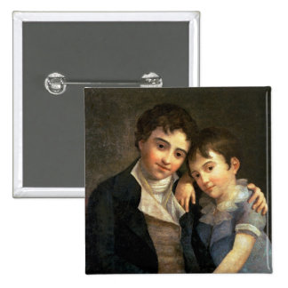 Portrait of Karl Thomas  and Franz Xaver Pinback Button