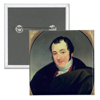 Portrait of Karl Thomas Mozart 2 Inch Square Button