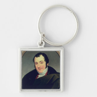 Portrait of Karl Thomas Mozart Silver-Colored Square Keychain