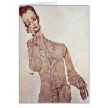 Portrait Of Karl Zakovsek By Egon Schiele Greeting Cards