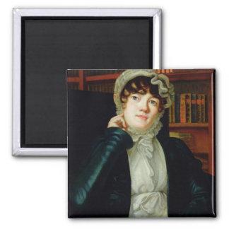 Portrait of Karolina Pavlova, c.1830 2 Inch Square Magnet