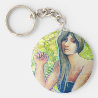 Portrait of Kat, Figure Art Products Keychain